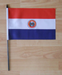 Paraguay Country Hand Flag - Medium.